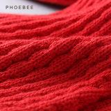 Шлем и шарф Phoebee вскользь связанные для одежды ребенка Хлопком