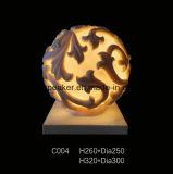 De Lantaarn van de Ballen van het zandsteen voor de Decoratie van het Beeldhouwwerk van de Tuin