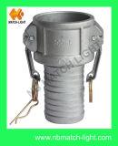 Tipo C, la aleación de aluminio de fundición Reduceing de acoplamiento ranurados Herrajes