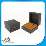 Cadre de empaquetage en cuir en bois de boîtier de montre de laque noire de Paino