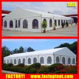 Tetto del PVC e tenda trasparenti della tenda foranea della festa nuziale della parete laterale