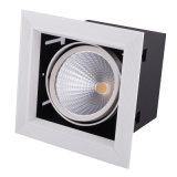 1개의 맨 위 20W AR111 LED 석쇠 빛