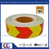자동 접착 PVC 화살 사려깊은 안전 경고 Conspicuity 테이프 (C3500-AW)
