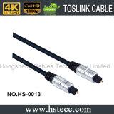 câble de fibre optique sonore plaqué par or de vente chaud de 15FT Toslink