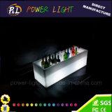 Plástico recargable iluminado mesa de bar LED con caja de hielo