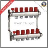 Fußboden-Heizungs-Wasser Segregator mit Anzeigeinstrument (YZF-M814)