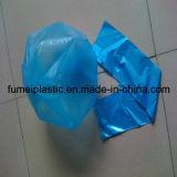 Sacchetto di immondizia di plastica biodegradabile blu dei rifiuti della fabbrica su rullo