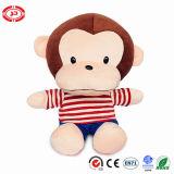 Jouet d'en bourré par peluche câline heureuse de cadeau de bébé de singe