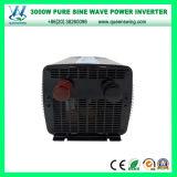 Inversor puro do seno de DC48V AC110/120V 3000W com indicação digital (QW-P3000)