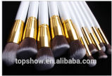 10PCS Beauty Equipment Makeup Brush Set Made de Synthetic Hair, Metal, Wood