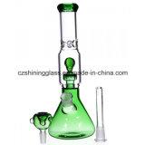 Heißes grüne Farben-inneres Schädel-Form Perc Glas-rauchendes Wasser-Rohr Czs-350