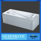 Vasca da bagno semplice sanitaria acrilica bianca quadrata di Batnroom di vendita calda di Jr-B006A
