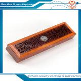 Rectángulo de joyería de madera artístico de moda revisado del surtidor