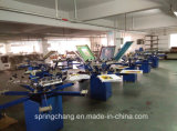 6 색깔 6 Station Manual T Shirt /Fabric Screen Printing Machine 또는 Screen Printer Spm650