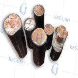 Câble ignifuge de courant électrique de gaine de PVC d'isolation de la tension moyenne XLPE