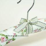 Perchas de ropa impresas flor completadas satén de las perchas de ropa (YL-yf03)