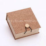 Klassisches Linen Cloth Jewelry Packaging Bangle Box mit Wood Button