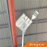 lâmpada de rua solar do diodo emissor de luz de 11m com a lâmpada e a bateria do diodo emissor de luz 90W na parte superior