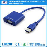 Ventas calientes para USB3.0 al cable del VGA, USB 3.0 al cable del VGA