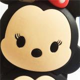PUNKT Bogen-Doppelt-Puppe netter Minnie Silikon-Telefon-Kasten für Samsung-Galaxie J1 J5 J7 A5 A7 (XSD-056)