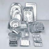 Контейнеры алюминиевой фольги сервиса связанного с питанием круглые