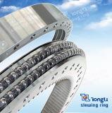 回転ベアリング二重列のSGSが付いている内部ギヤが付いている別の直径の球