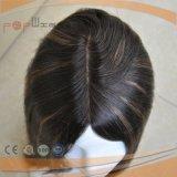Peruca cheia amarrada do cabelo humano da base do laço da parte superior da pele da cor mão preta Charming