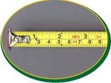 cinta métrica del acero de los 5m con la lámina dual revestida del nilón y el gancho de leva magnético