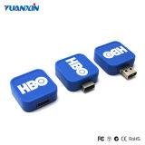 A movimentação do USB do giro promove a movimentação feita sob encomenda do flash do USB do logotipo do presente