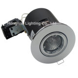 Messing Tilt Fire Rated Recessed LED Downlight aan Comply met BS476