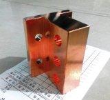 Kupferne Platte durch heißes Schmieden
