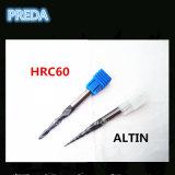 Altin cubrió las herramientas de la nariz de la bola de la forma cónica de las flautas HRC60 2
