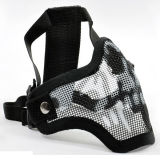 Airsoftの戦術的なV1殴打の網の半分のマスク
