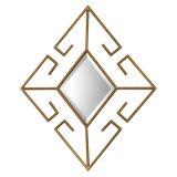 Specchio progettato creativo della parete incorniciato metallo a forma di diamante per la decorazione domestica