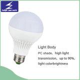 luz plástica de la luz de bulbo de 3W E27 LED LED