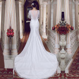 Long Sleeve Lace Real Photos Mermaid Wedding Dresses (TM-MS009)