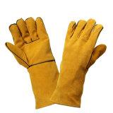 Отрежьте перчатки руки заварки упорной безопасности кожаный работая защитные