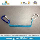 Поводок Tether пластичного крюка спирального шнура W/Colored Carabiner Bungee просто