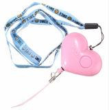 Alarma personal del color del corazón de la dimensión de una variable del robo anti anti multi del hurto con el LED para los niños