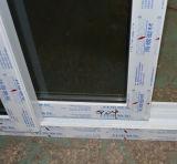 Vidrio doble Kz313 con la puerta deslizante del perfil blanco del color UPVC de la red