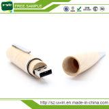 Förderndes kundenspezifisches hölzernes USB-Stock USB-Feder-Laufwerk (uwin-129)