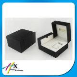 Коробка случая вахты черного лака Paino деревянная кожаный упаковывая
