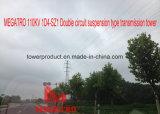 doppia torretta della trasmissione del circuito di 110kv 1d4-Sz1