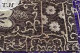 Пурпуровая красивейшая ткань софы жаккарда синеля 320GSM