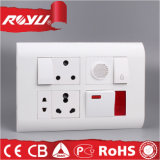 Harvell Electrical Plastic Power Button Socket와 Switch