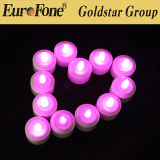Purple LED recargable Luz de velas