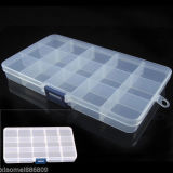 プラスチック15スロット調節可能な道具箱の箱型