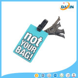 2016 Vente en gros Customized Design Promotionnel Gift Soft Silicone Luggage Tag
