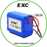 18650 Lithium Battery Pack 4 Cells 1s4p 3.7V 10ah Power Battery