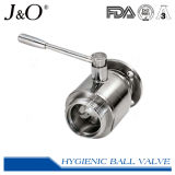 Válvula de esfera sanitária da flange do aço inoxidável
